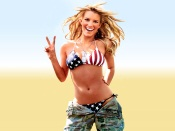 Jessica Simpson as American Soldier
