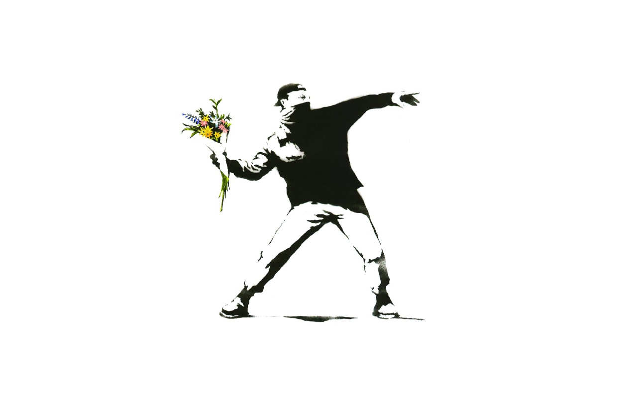 Flower Thrower from Banksy