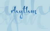 Rhythm, Blue Background