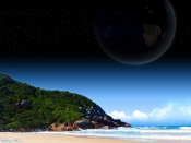 Planet over the Beach