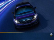 Opel Astra in the Neon Light