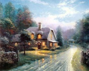 Thomas Kinkade - Evening With Your Family