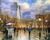 Thomas Kinkade - After Rain in the Park