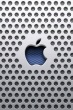 Apple, Perforated Aluminium Background