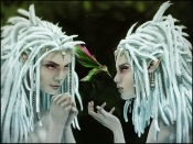 Twin Girls With White Dreadlocks