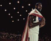 Leborn James With American Flag