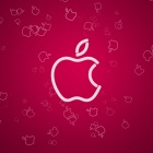 Apple Logo on a Pink
