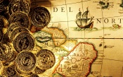 Gold Coins And An Old Map
