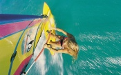 Windsurfing, top view