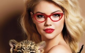 Kate Upton in Red Glasses
