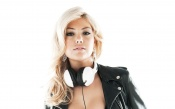 Kate Upton With Headphones