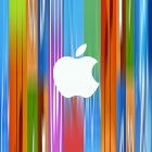 Apple Logo, colorful background