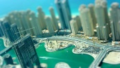 New Buildings on the Coast, tilt-shift effect