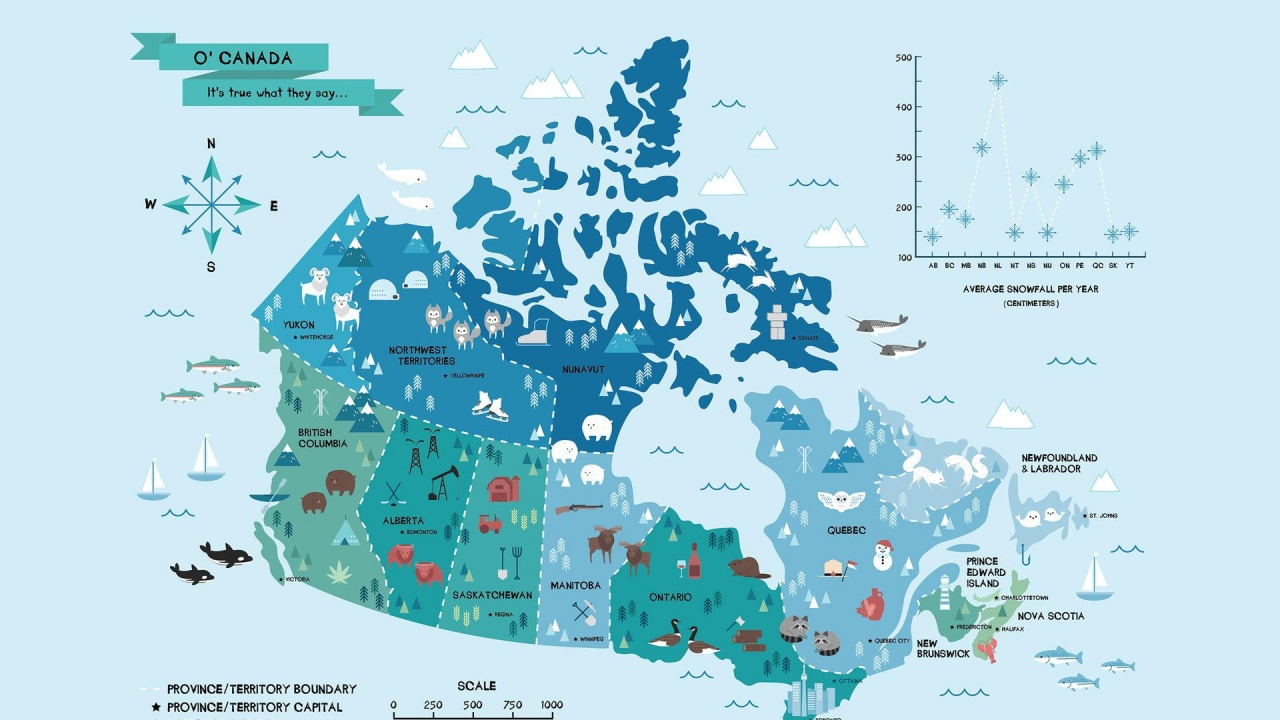 O Canada (Map) #27314 / Good-Wallpapers.com